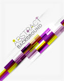 Geometrical design background, straight lines on white Stock Images
