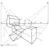 Geometrical drawing Stock Photography