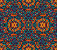 Geometrical Ethnic Tribal Print Ornament. Abstract seamless pattern ornamental. Festive colorful background design. Geometrical Ethnic Tribal Print Ornament Royalty Free Stock Image