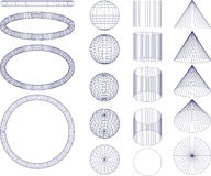 Geometrical figures Royalty Free Stock Images