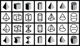 Geometrical figures. Isolated on white background Stock Image