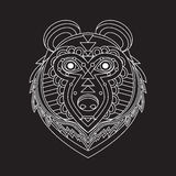 Geometrical flat style animal portrait made in vector. Head of b Royalty Free Stock Image