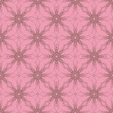 Geometrical floral pattern pattern. Floral and geometrical seamless pattern Stock Photo