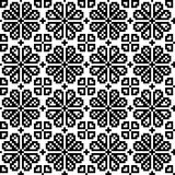 Geometrical flower seamless pattern Royalty Free Stock Photos