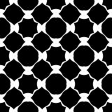 Vector Black and white abstract, seamless bold different shape pattern, flora design stock illustration