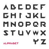 Geometrical font, Modern futuristic typography. Vector illustration Royalty Free Stock Image