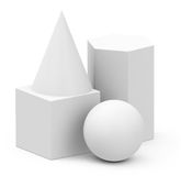Geometrical forms Royalty Free Stock Photos