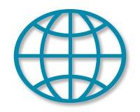 Geometrical Globe. Geometrical shaped globe, a crisp illustration Royalty Free Stock Image