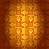 Geometrical golden damask seamless texture. Abstra Stock Images