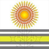 Geometrical gradient flower Stock Images