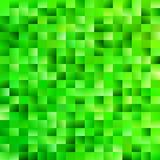 Geometrical gradient rectangle background - digital mosaic vector graphic from rectangles in green tones Royalty Free Stock Image