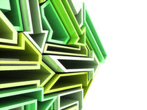 Geometrical green arrows background Stock Image