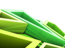 Geometrical green background Stock Image