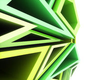 Geometrical green background Royalty Free Stock Image