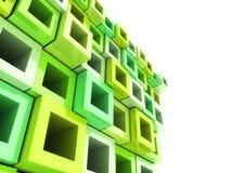 Geometrical green frame background Stock Image