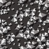 Geometrical grey seamless pattern. Vector illustration. Eps 10 Stock Image