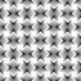 Geometrical gwiazda wykłada Bezszwowego Deseniowego białego tło Obrazy Stock
