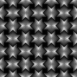 Geometrical gwiazda wykłada Bezszwowego Deseniowego czarnego tło Fotografia Royalty Free