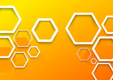 Geometrical hexagon background template Stock Images