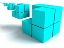 Geometrical image. The geometrical image with infinitely varying cubes Stock Images