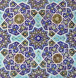 The interior Islamic mosaic design. The geometrical Islamic mosaics design of the Samarkand royalty free stock photography