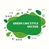 Geometrical line abstract background. Abstract graphic line background. Eco green banner with a splash shape. Flyer vector template. Cover design template for stock illustration