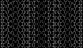 Geometrical line black and white seamless pattern design Royalty Free Stock Photo