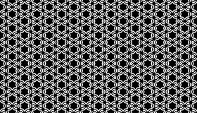 Geometrical line and star seamless pattern design Stock Photo