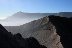 Geometrical lines of the volcano Royalty Free Stock Photography