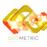 Geometrical minimal abstract background with light effects. Vector Royalty Free Stock Image