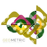 Geometrical minimal abstract background with light effects. Vector stock illustration