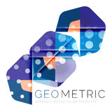 Geometrical minimal abstract background with light effects. Vector vector illustration