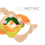 Geometrical minimal abstract background with light effects. Vector royalty free illustration