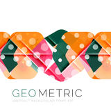 Geometrical minimal abstract background with light effects. Vector Stock Images