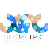 Geometrical minimal abstract background with light effects. Vector Royalty Free Stock Images