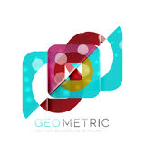 Geometrical minimal abstract background with light effects. Vector Stock Image