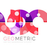 Geometrical minimal abstract background with light effects Stock Photography