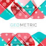 Geometrical minimal abstract background with light effects Royalty Free Stock Photography