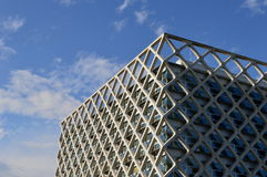 Geometrical modern building exterior Stock Image