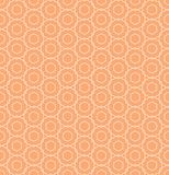 Geometrical orange flower seamless pattern design Stock Images