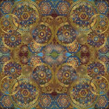 Geometrical oriental  background, warm colored Royalty Free Stock Photography