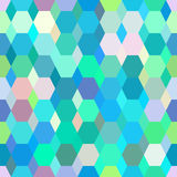 Geometrical ornament colored polygonal pattern Stock Image