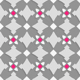 Geometrical ornament with shades of gray and pink squares Stock Photos