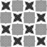 Geometrical ornament with slim wire black and gray shapes Royalty Free Stock Images