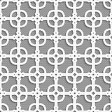 Geometrical ornament with white dots texture Stock Image