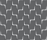 Geometrical ornament with white zig-zag shapes on dark gray Royalty Free Stock Photo