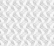 Geometrical ornament with white zig-zags on white background Royalty Free Stock Image