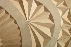 Geometrical ornament, woodcarving Zdjęcia Stock