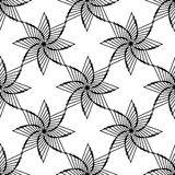 Geometrical ornamental star, symbol of the sun. Islan star. Seam. Less pattern. monochrome white-black vector illustration eps 10 Vector Illustration