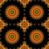 Geometrical ornamental textile pattern Royalty Free Stock Image